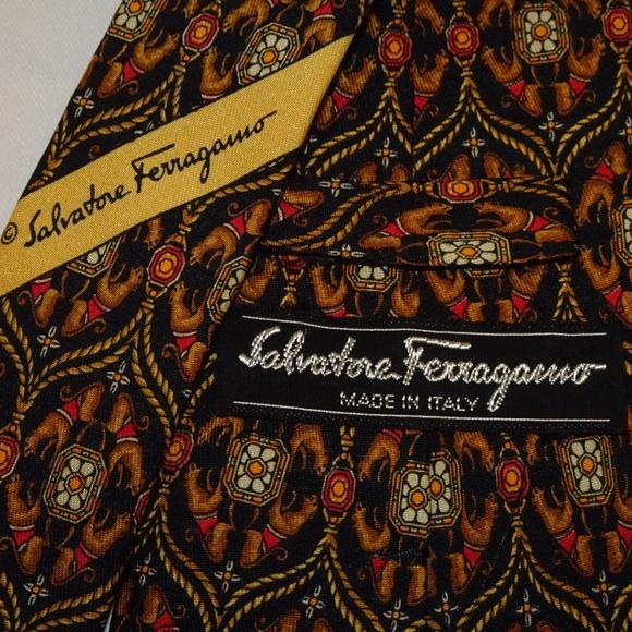 Salvatore Ferragamo Other - Salvatore Ferragamo Tie | Black w/Jaguars | EUC